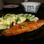 Kalaa ja valkosipuliöljyä